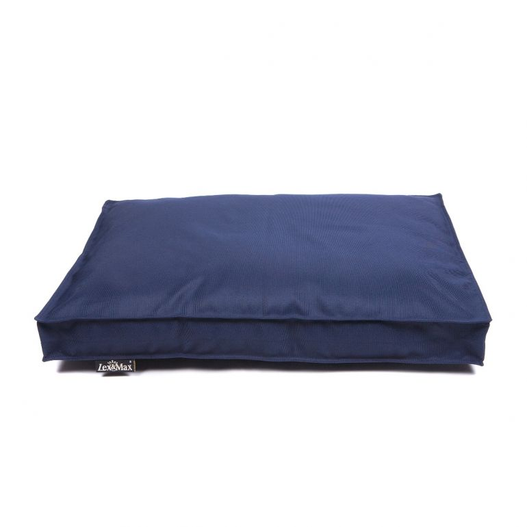 Lex & Max Hondenkussen All Weather Donkerblauw - Boxbed - 90 x 65cm - Kussenhoes