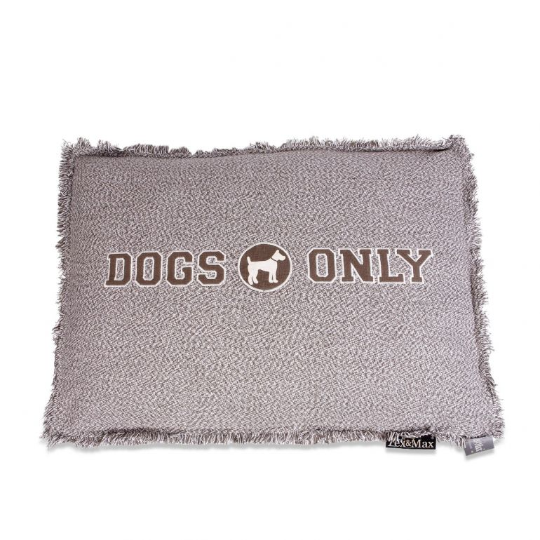 Lex & Max Hondenkussen Dogs Only Taupe - Boxbed - 90 x 65cm