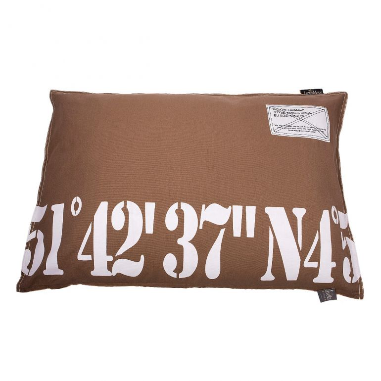 Lex & Max Hondenkussen Number 51-42 Taupe - 100 x 70cm - Kussenhoes