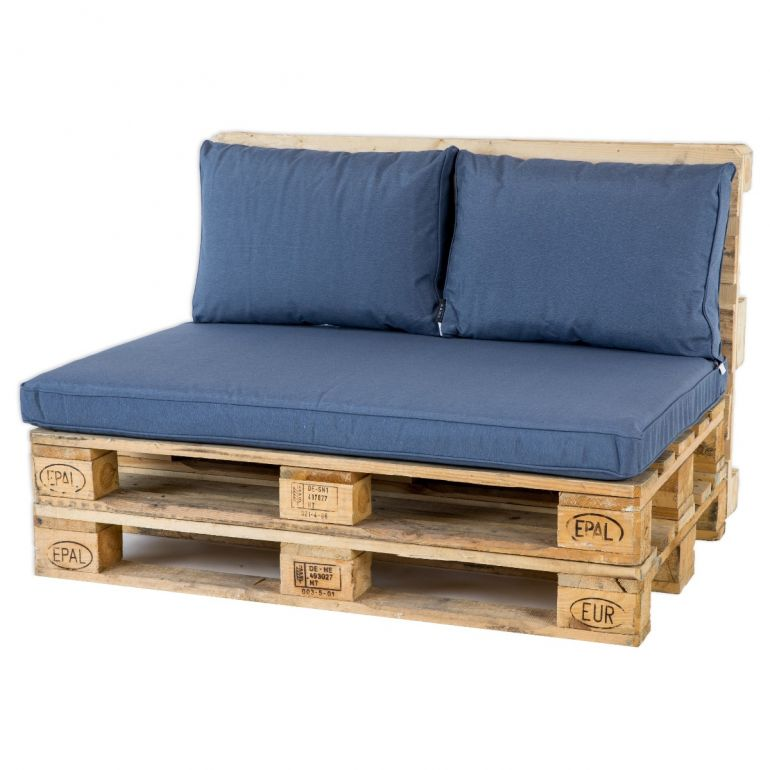Madison Palletkussen Lounge Panama Safier Blue - 120 x 80cm