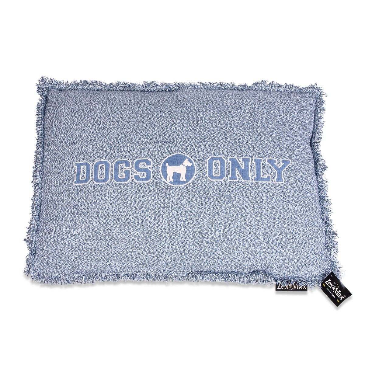 Lex & Max Hondenkussen Dogs Only Faded Blauw - Boxbed - 75 x 50cm