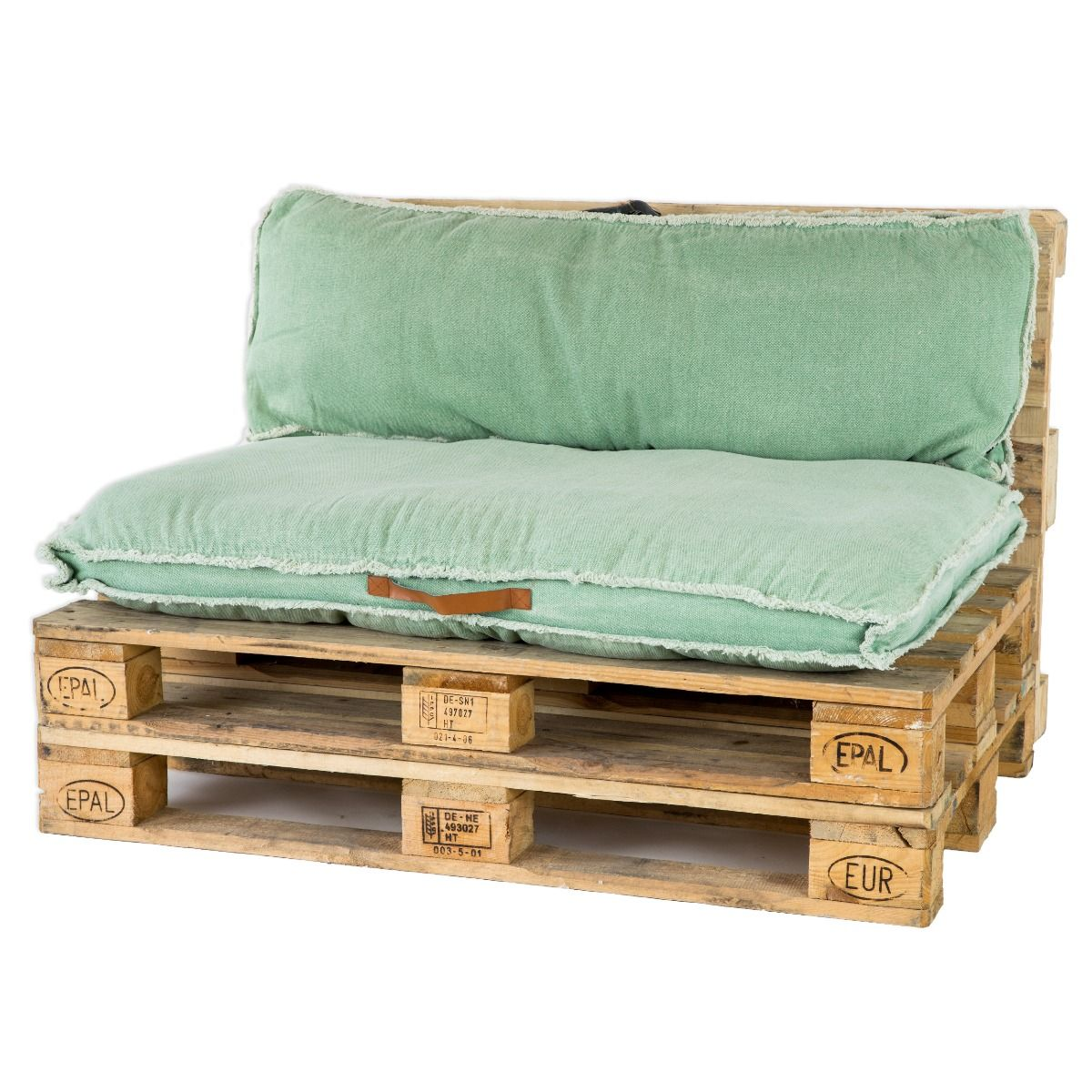 Unique Living Palletkussenset Manouk Groen - 2 delig
